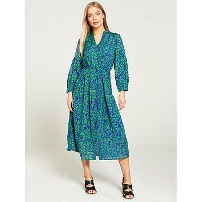 Whistles Valeria Henna Print Shirt Dress - Green Multi