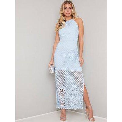 Chi Chi London Jen Lace Bodycon Dress - Blue