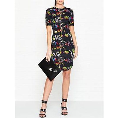 Versus Versace 30Th Anniversary Giannia Vanitas Print Dress - Black