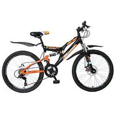 Boss Cycles Boss Stealth Boys Bike 24 Inch Wheel Full Suspension Dual Disc