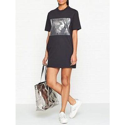 Coach Disney X Coach Sequin Bambi Short Sleeve Sweatshirt Dress - Black