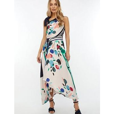 Monsoon Suki Print Midi Dress - Ivory