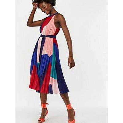Monsoon Coco Print Pleat Trapeze Midi Dress - Multi