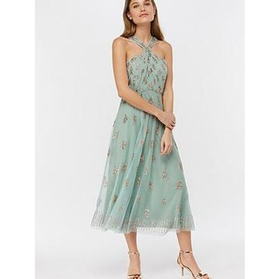 Monsoon Monsoon Gracella Embellished Halter Dress