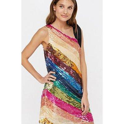 Monsoon Miki Stripe Sequin Short Dress
