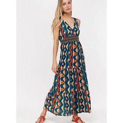 Monsoon Natalia Jersey Maxi Dress - Teal