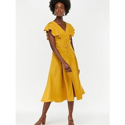 Monsoon Kristina Fit And Flare Dress - Yellow