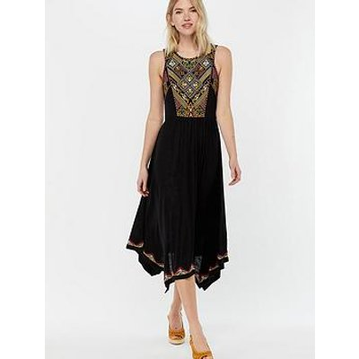 Monsoon Marnie Embroidered Jersey Dress