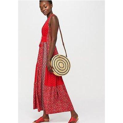 Monsoon Dante Jersey Patch Print Dress - Red
