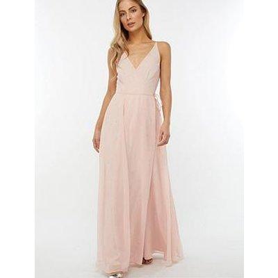 Monsoon Gemma Pearl Wrap Maxi Dress - Pink