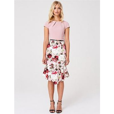 Paper Dolls Paper Dolls 2 In 1 Floral Fluted Skirt Bodycon Dress