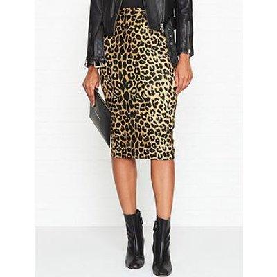 Allsaints Alie Leopard Print Pencil Skirt - Leopard