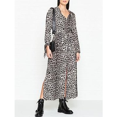 Allsaints Kristen Leopard Print Maxi Dress - Leopard