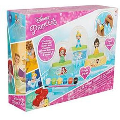 Disney Princess Princess Paint Your Own Glitter Dome 3 Pack