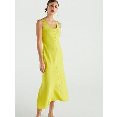 Whistles Pippa Satin Slip Dress - Yellow