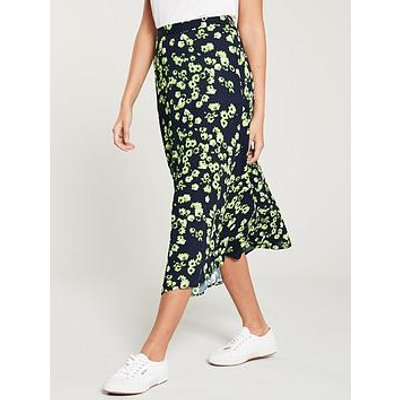 Whistles Daisy Print Skirt - Navy/Multi
