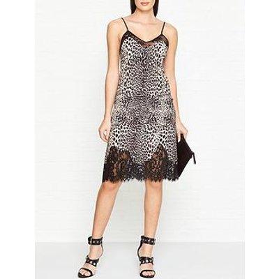 Mcq Alexander Mcqueen Leopard Print Lace Slip Dress - Leopard
