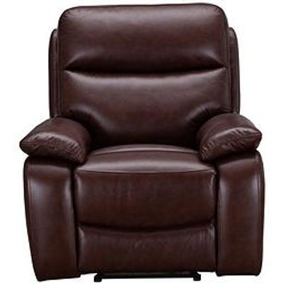 Hasting Real Leather/Faux Leather Manual Recliner Armchair