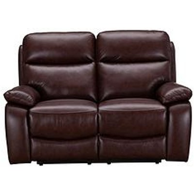 Hasting Real Leather/Faux Leather 2 Seater Manual Recliner Sofa