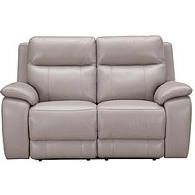 Colby Real Leather/Faux Leather 2 Seater Power Recliner Sofa