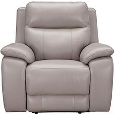 Colby Real Leather/Faux Leather Power Recliner Armchair