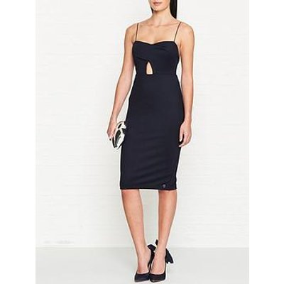 Outline Lansbury Cut Out Jersey Midi Dress - Navy