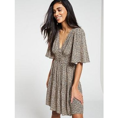 V By Very Button Waist Tea Dress