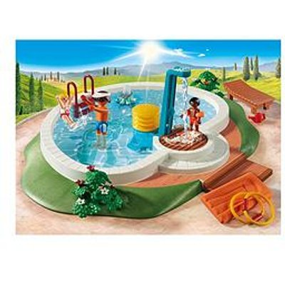 Playmobil Playmobil 9422 Family Fun Swimming Pool With Functioning Shower