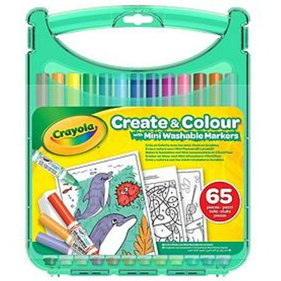 Crayola Mini Washable Markers Ceate & Colour Case