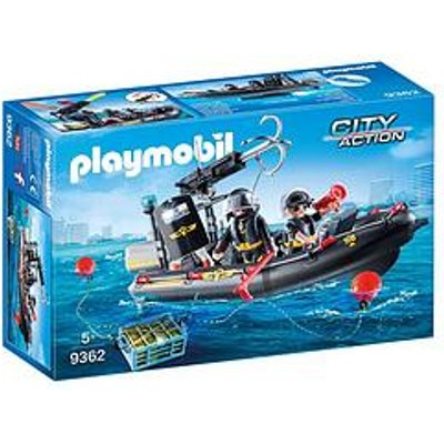 Playmobil Playmobil City Action Swat Boat With Hook Cannon