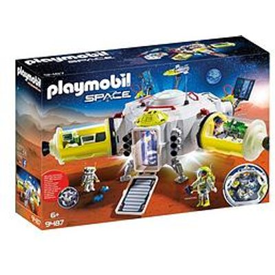 Playmobil Playmobil 9487 Space Mars Space Station With Functioning Double Laser Shooter