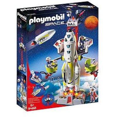 Playmobil Playmobil 9488 Space Mission Rocket With Launch Site With Lights And Sound