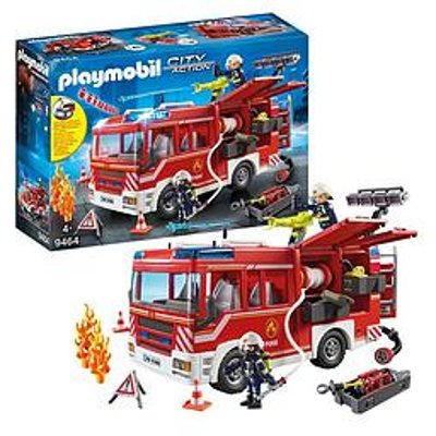 Playmobil Playmobil City Action Fire Engine With Water Cannon