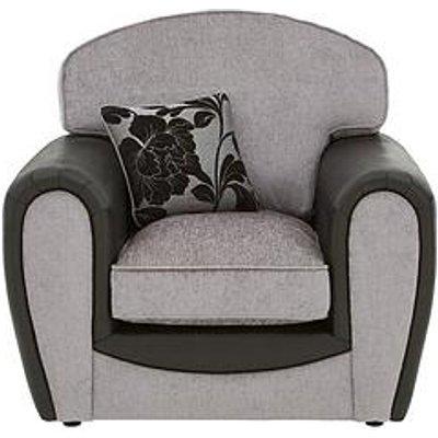 Fleur Fabric And Snakeskin Armchair