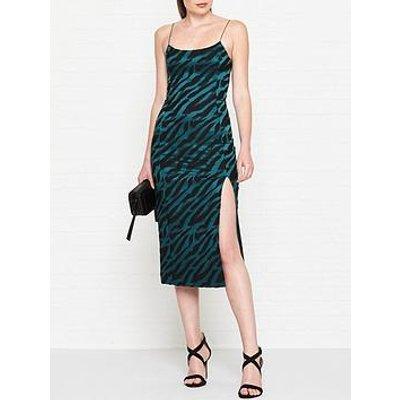 Bec & Bridge Dsicotheque Zebra Print Midi Dress - Green