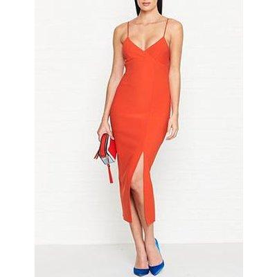 Bec & Bridge Lea Split Midi Dress - Orange