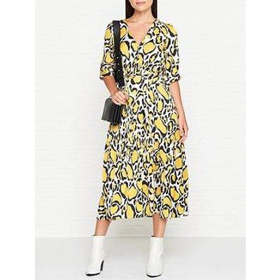 Gestuz Midi Smock Dress - Yellow