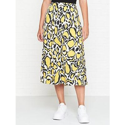 Gestuz Leopard Midi Skirt - Yellow