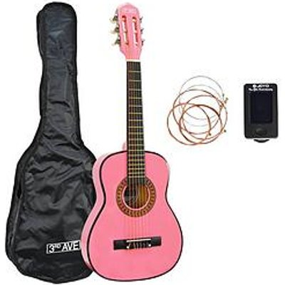 3Rd Avenue 3Rd Avenue 1/4 Size Classical Guitar Pack - Pink With Free Online Music Lessons