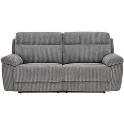 Baron Fabric 3 Seater Manual Recliner Sofa