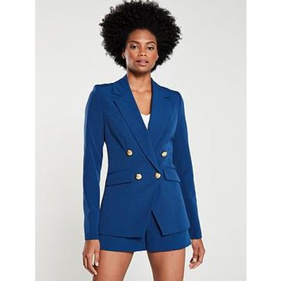 V By Very Military Jacket - Navy