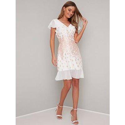 Chi Chi London Nelley Dress - White