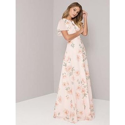 Chi Chi London Jessamine Embroidered Maxi Dress - Pink