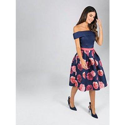 Chi Chi London Dilina 2-In-1 Bardot Dress - Navy