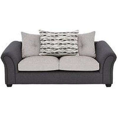 Quartz Fabric Compact 3 Seater Scatter Back Sofa