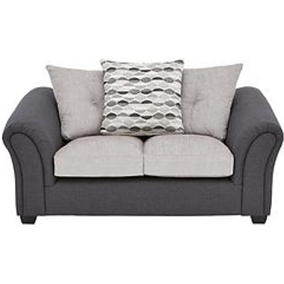 Quartz Fabric Compact 2 Seater Scatter Back Back Sofa