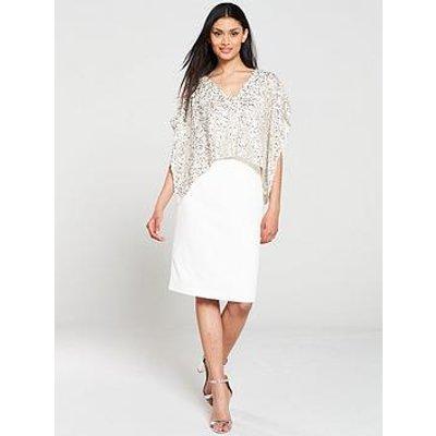 Gina Bacconi Areti Crepe And Sequin Dress - Silver