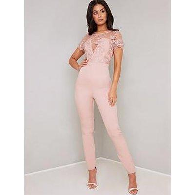 Chi Chi London Olive Jumpsuit - Pink