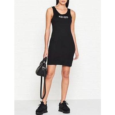 Kenzo Logo Tank Dress - Black