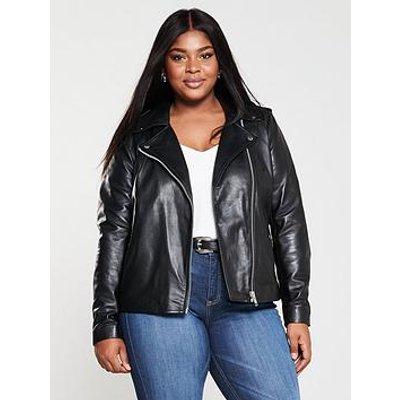 Junarose Curve Stima Leather Jacket - Black